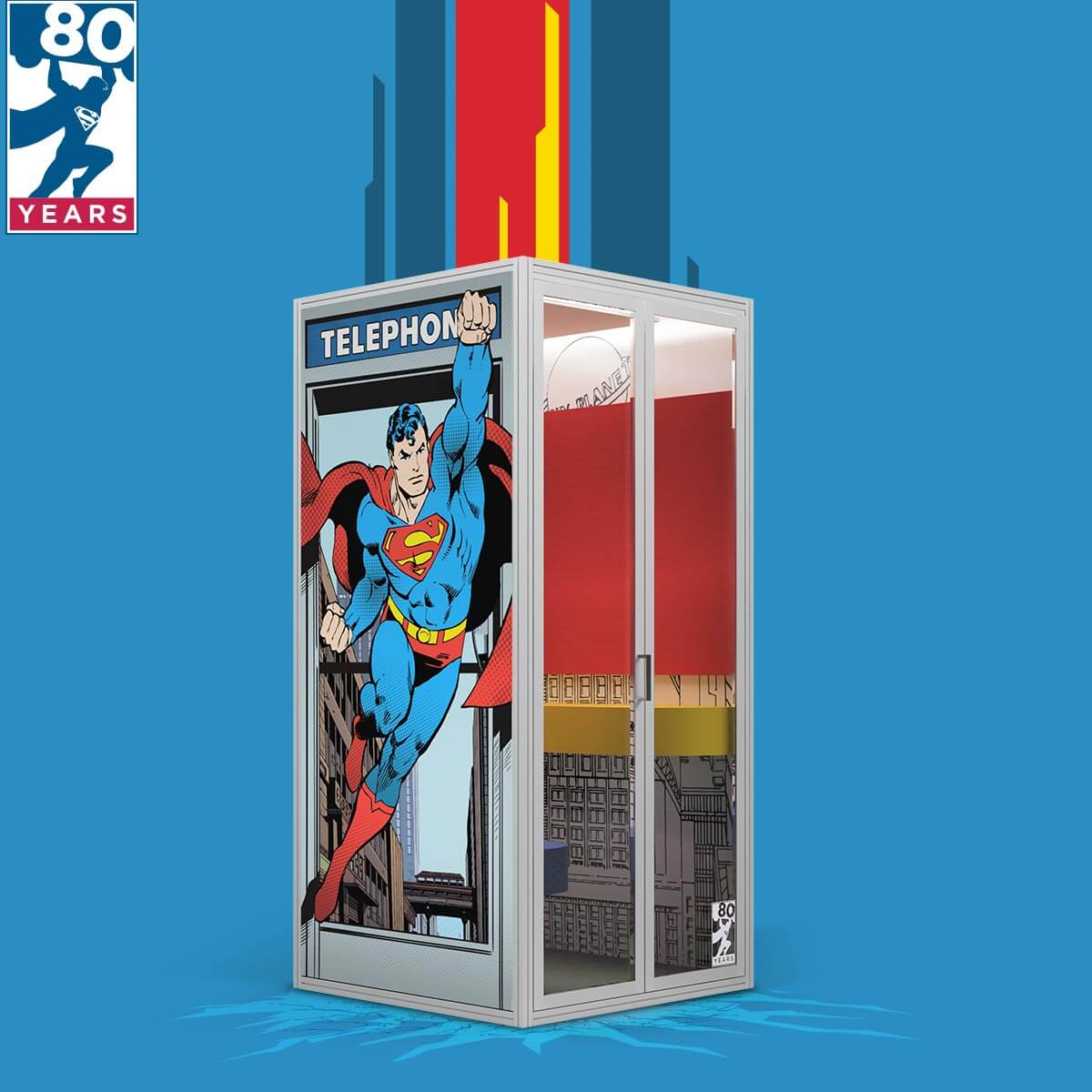 Superman Limited Edition Phone Booth from Cubicall