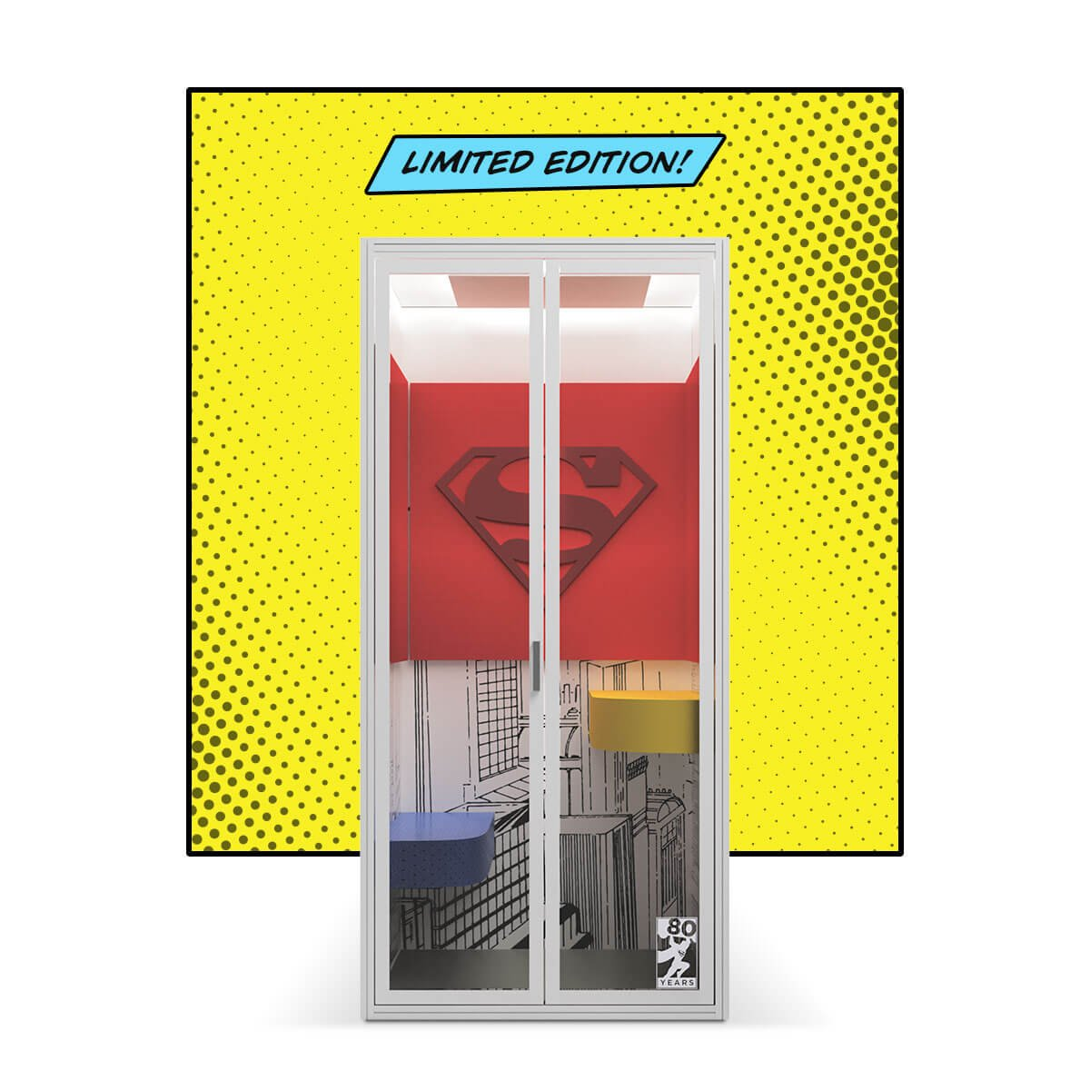 Superman Phone Booth Limited Edition Cubicall